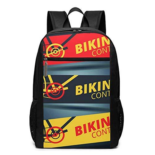 OMNVEQ Mochila Escolares Competición Ciclismo Ciclismo Carrera Bicicleta, Mochila Tipo Casual para Niñas Niños Hombre Mujer Mochila para Ordenador Portátil Viaje
