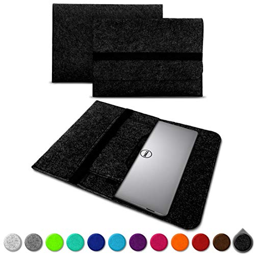 UC-Express Sleeve Hülle für Dell XPS 13 9380 9370 9360 9365 Tasche Filz Notebook Cover Laptop Hülle 13,3 Zoll Schutzhülle, Farben:Dunkles Grau