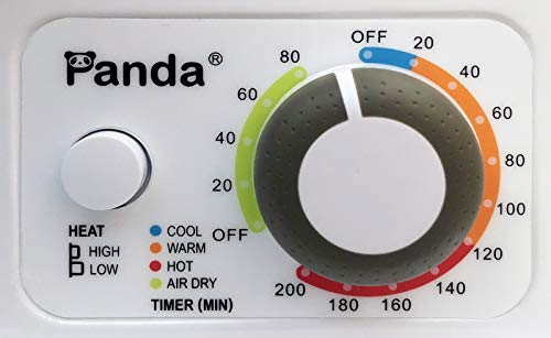 Panda 110V Electric Portable Compact Laundry Clothes Dryer, 1.5 cu.ft, Stainless Steel Drum Black and White, PAN725SF