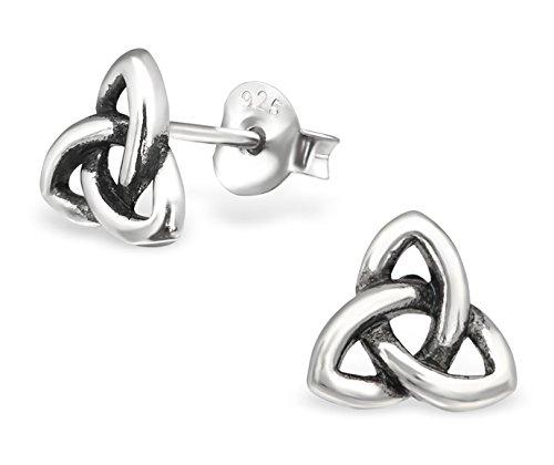 Best Wing Jewelry .925 Sterling Silver Celtic Knot Tiny Stud Earrings (0305730)