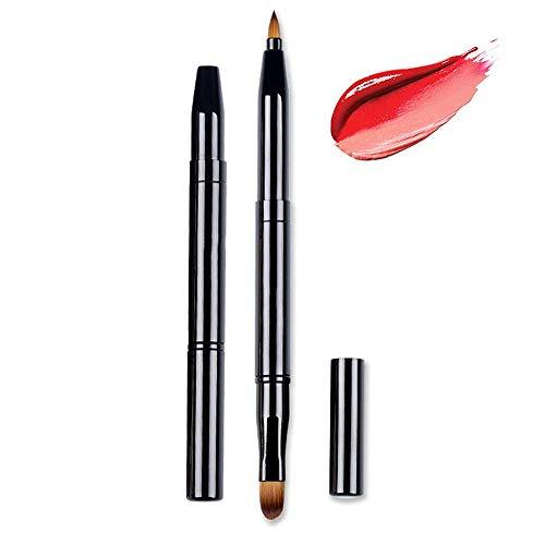 Lip Brushes Eye Brush 2-In-1 Lip Liner Makeup Brush Retractable Lipstick Liner Eyeshadow Concealer Makeup Travel Lipstick Gloss Brush Makeup Brush Tool Dual End With Cap