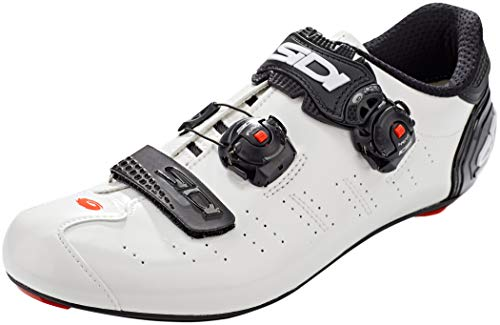 Sidi Ergo 5, Scape Fahrradschuhe für Herren, Weiß, Schwarz, Größe 42,5