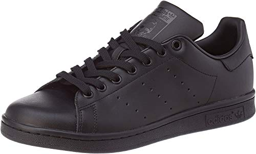 adidas Mens Stan Smith Sneaker, Core Black Core Black Core Black, 44 2/3 EU