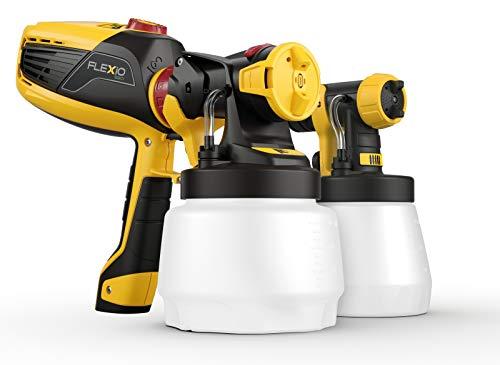 Wagner universal Farbsprüher W 590 FLEXiO für Wandfarbe (1300 ml), Lacke u. Lasuren (800 ml), Flächenleistung 15 m² in 6 min, Farbfördermenge stufenlos regelbar 0-500 ml/min