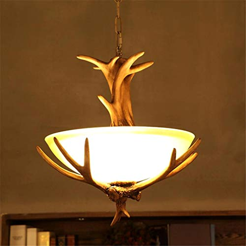 Creatieve hars gewei ronde kroonluchter vintage industrie hanglamp boerenhuis plafond hanglamp woonkamer/eetkamer/slaapkamer/bar/droplight