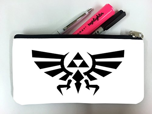 Legend Of Zelda Triforce Crest Art Student Pen Pencil Case Coin Purse Pouch Cosemetic Makeup Bag