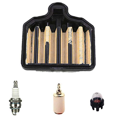 Euros 575296301 Air Filter for PP5020AV PP4818AV 50cc Chainsaw Replace Craftsman 358350981 358350980 358350982 Chainsaws with Spark Plug Primer Bulb Fuel Filter Service kit