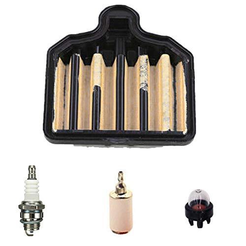 Euros 575296301 Air Filter for PP5020AV PP4818AV 50cc Chainsaw Replace Craftsman 358350981 358350980 358350982 Chainsaws with Spark Plug Primer Bulb Fuel Filter Service kit