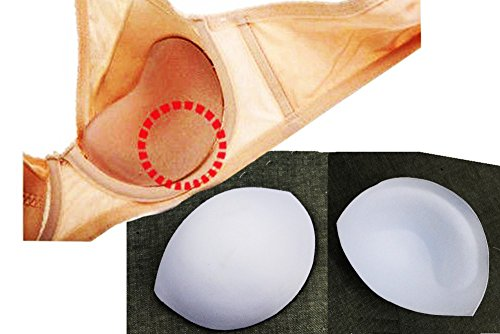 5set Women White Bra Cups Soft Thick Foam Pads Size M Bra Sewing in Accessories Push up Pads for Bikini
