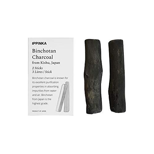 Binchotan Water Purifier Charcoals from Kishu, Japan - 2 Sticks, Each Stick Filters Up 3 litres of Water