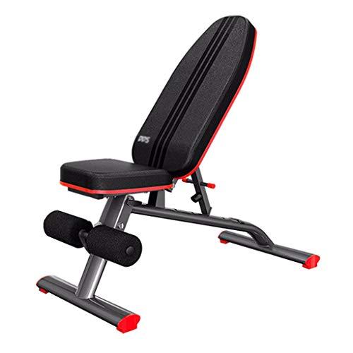 Cymbidy UK - Bauchtrainer Trainingsbank - SchräGbank Kommerzielle Hantelbank Gym Gym Home Training Gym Gewichtheben Schwarz und Rot