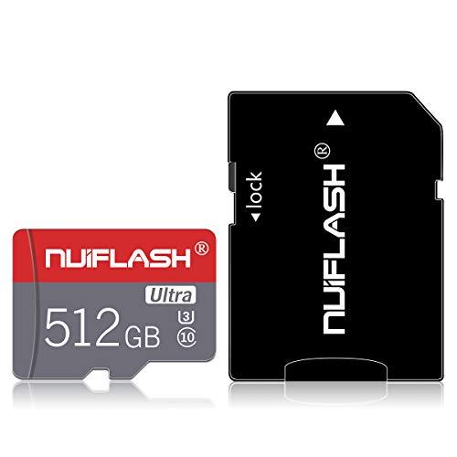 Preisvergleich Produktbild Micro-SD-Karte,  512 GB,  High-Speed-TF-Karte mit einem SD-Karten-Adapter für Nintendo-Switch,  Handy,  Überwachungskamera,  Fahrtenschreiber,  Tablet,  Computer,  Drohne,  Handy (512 GB)