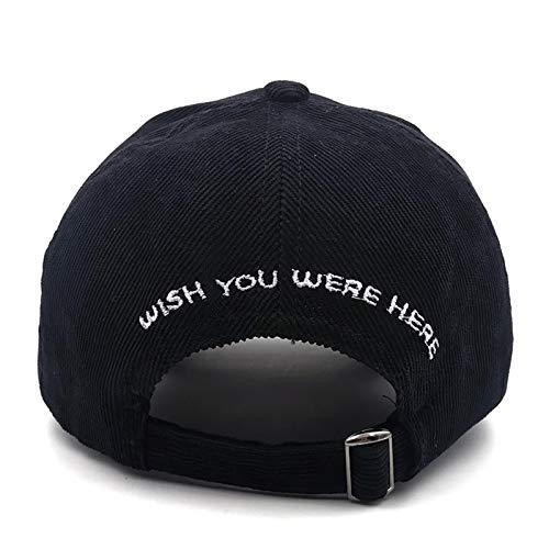 XMYNB Baseball Cap Dad Hat Astroworld Cap Corduroy Embroidery Women Men Baseball Caps Bone-Burgundy