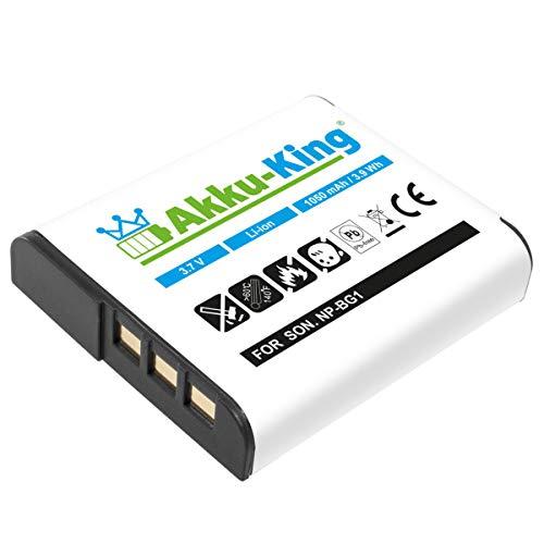 Akku-King Akku kompatibel mit Sony NP-BG1, NP-FG1 Li-Ion 1050 mAh - für Cyber-Shot DSC-H/7B, H10, HX20V, DSC-T100, DSC-WX1