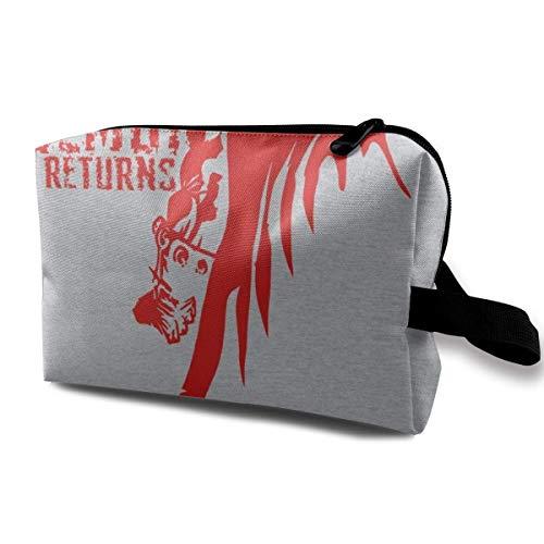 zmzm Bolsas de Almacenamiento con cremallerasMakeup Bag Cosmetic Pouch Etrigan The Demon Returns Multi Functional Bag Travel Kit Storage Bag