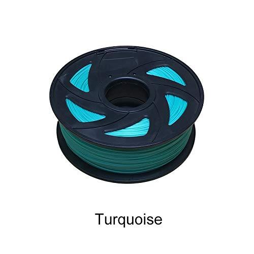No Logo ZFX-3DHAOCAI, 3D-Drucker-Filament, 1,75, 1 kg, PLA-Kunststoff, Gummi, Verbrauchsmaterial, 22 verschiedene Farben türkis
