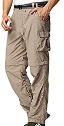 Linlon Men's Outdoor Quick Dry Convertible Pant