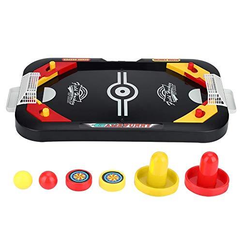 Alomejor Eishockey Spielzeug Air Hockey Spieltisch Mini Tischspiel Desktop Spielzeug Set für Kinder und Erwachsene