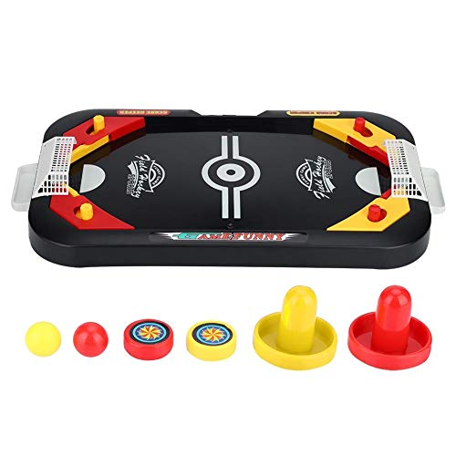 Alomejor Ice Hockey Toy Air Hockey Game Table Mini Table Top Game Desktop Toys Set for Kids and Adults