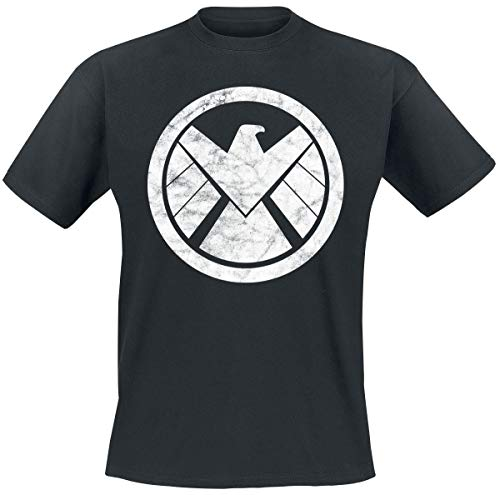 Agents of S.H.I.E.L.D. S.H.I.E.L.D. Logo Uomo T-Shirt Nero XXL 100% Cotone Regular