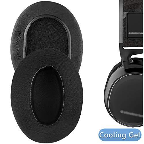 Geekria Sport Cooling Gel-Infused Cloth Almohadillas de Repuesto para Auriculares SteelSeries Arctis 3 Arctis 5 Arctis 7 Arctis 9X Arctis Pro Headphone, Auriculares Almohadillas