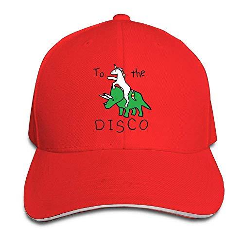 KINKPH naar de Disco (Eenhoorn Riding Triceratops) Sun HatLovely Outdoor Hoeden Unisex Verstelbare Baseball Caps