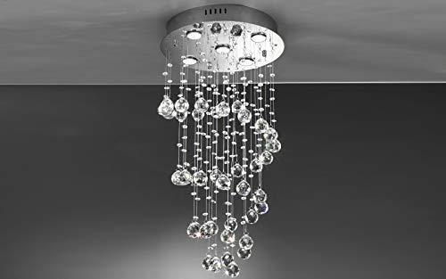 Lámpara con cristales con bombillas LED – 40 x 40 x 80 cm – Compatible con bombilla clase
