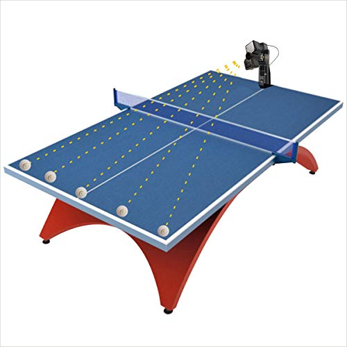 Suz Table Tennis Robot with Net Ping Pong Ball Machine S201 Automatic Table Tennis Machine for Training with 40mm+ Table Tennis Balls