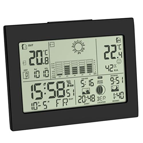 TFA Dostmann Horizon Wireless Weather Station with Outdoor Sensor Weather Forecast with Radio Controlled Clock