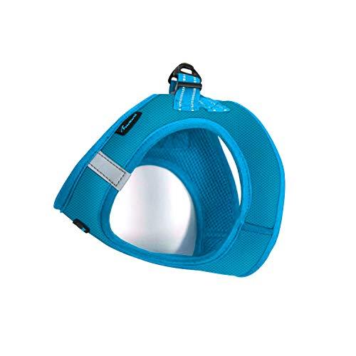 PetsWorld Simple Harness, Custom Mix Color Adjustable Breathable Reflective Strips Nylon Fabric, Blue, L