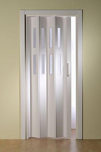 Doppelfalttür Luci mit 2 Fensterreihen, B 175 x H 202 cm, weiß