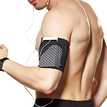 Universal Sports Armband for All Phones Cell Phone Armband for Running Fitness and Gym Workouts  iPhone X/8/7/6/Plus,Samsung Galaxy S9/S8/S7/S6/Edge/Plus & LG Google & More  Black M