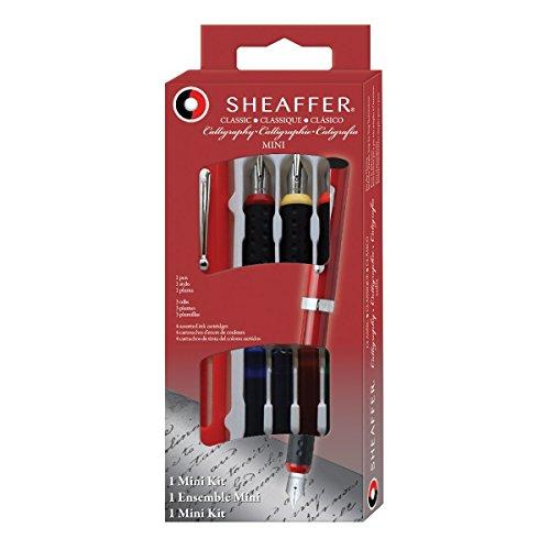 Sheaffer - Pluma estilográfica con 3 plumines intercambiables (incluye 4 cartuchos de tinta de varios colores)