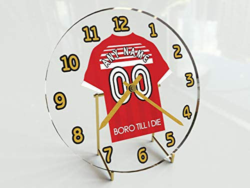 Standuhr Sky Bet Fußball-Meisterschaft, mit unterschiedlichen Teams, Namen, Nummern Middlesbrough