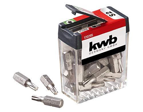 kwb 25 x Bits T20 Spender-Box 120295 (25 mm, C 6.3, ISO 1173, Vorteilspack), 1 V, Stück