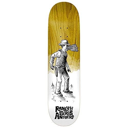 Anti Hero Raney Skateboard-Brett mit verschiedenen Holzbeizen, 21 cm