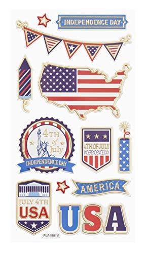 Hobbyfun Softy-Sticker USA, Bogen 9,5 x 18 cm