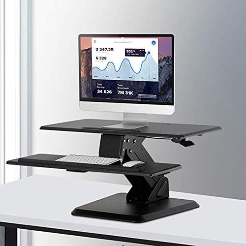 STZYY Elevador de Oficina de pie Escritorio para computadora de Escritorio Escritorio para computadora portátil Plegable extraíble Excelente solución para Sentarse para Todas Las Estaciones de tra