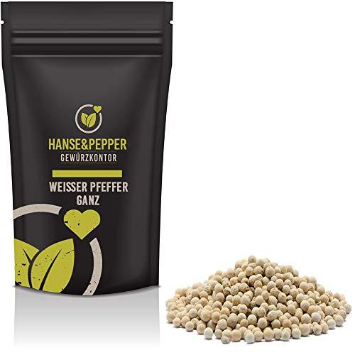 1kg Pfeffer Weiß ganz Pfeffermühle Pfefferkörner weißer Pfeffer natürlich vom Hanse&Pepper Gewürze