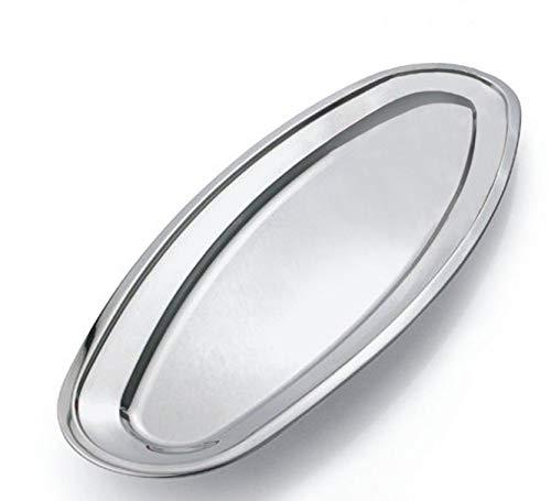 Edelstahl Fischplatte, Haushaltsgeschirr, Ovales Serviertablett,Fleischplatten & Fleischteller, Reis Platte, Größe - 40cm. von Omaker