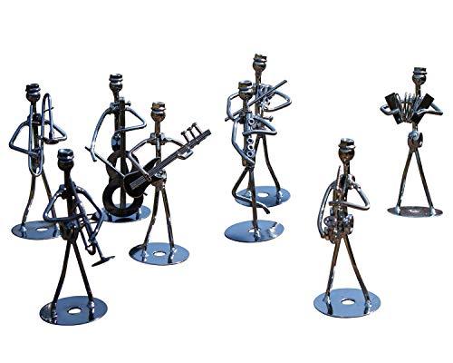 Juego de 8 figuras de hierro, altura de 13 cm, arte de...