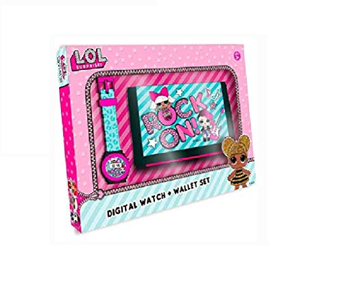 LOL SURPRISE Set Reloj Digital y Billetera en Caja (