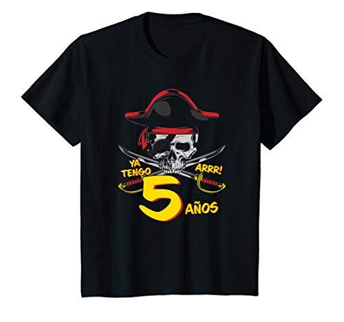 Niños Piratas - Para el 5º cumpleaños del pirata - 5 años - Pirata Camiseta