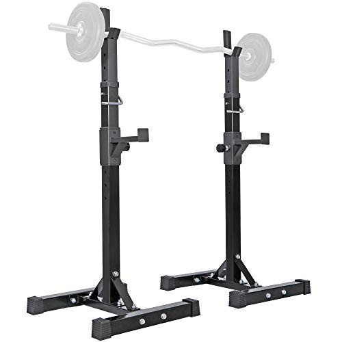 """ANT MARCH Pair of Adjustable Height 40""""-66"""" Portable Dumbbell Racks Sturdy Steel Squat Rack Barbell Free Bench Press Stands Home Gym Load 550Lbs Dipping Station"""