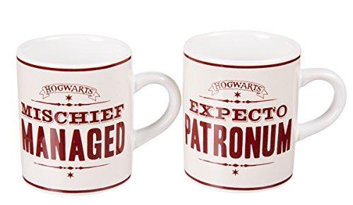 Set Harry Potter Mischief Managed Expecto Patronum Gift Boxed Mini Mug