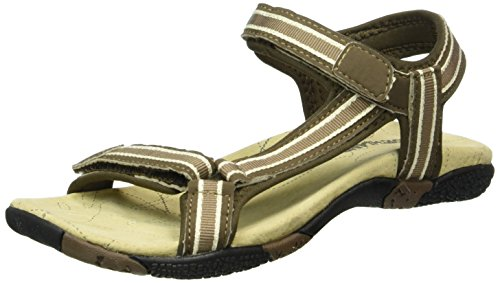 Northland Damen Venezia Ls Leather Sandal Plateau, Braun (Brown/Sand 30), 37 EU