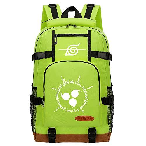 CXWLK Backpack Mochila Tipo Casual Bandolera La Bolsa De Mensajero Bolsa De Bolsa De Hombro Messenger Bag Mochila De Gran Capacidad,Naruto,Green,46cmX29cmX13cm