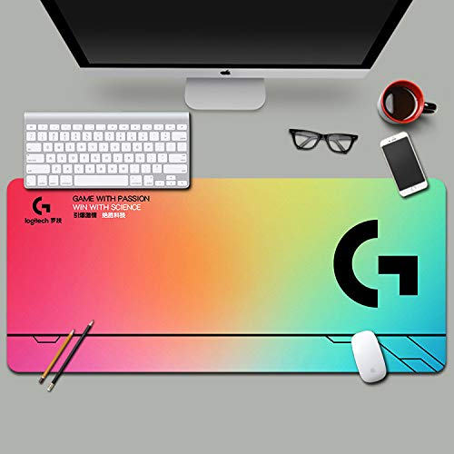 Logitech - Alfombrilla de ratón con bloqueo lateral Csgo de gran tamaño, juego de teclado y teclado