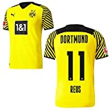 PUMA Borussia Dortmund BVB Heimtrikot 2021 2022 Home Trikot Sponsor BL Logo Kinder Marco Reus 11 Gr 164