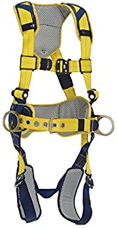 3M DBI-SALA DeltaComfort 1100787 Fall Arrest Kit with Back/Side D-Rings, Belt with Pad, Quick Connect Buckle Leg/Chest Straps and Comfort Padding, Large, Navy/Yellow